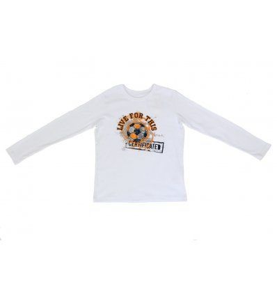Majica bijela - nogometna lopta