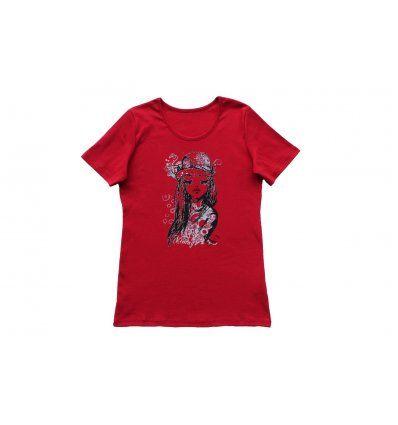 Majica kratki rukav crvena cura