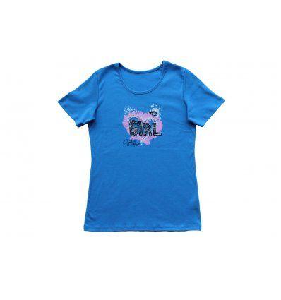 Majica kratki rukav svjetlo plava Girl