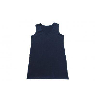 Haljina A kroja bez rukava tamno plava