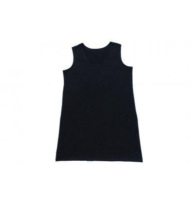 Haljina A kroja bez rukava crna