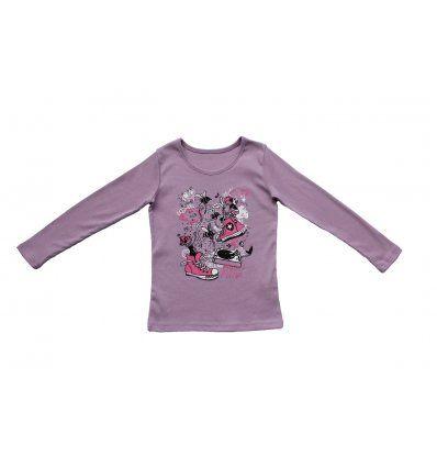 Majica uska blijedo lila tenisice