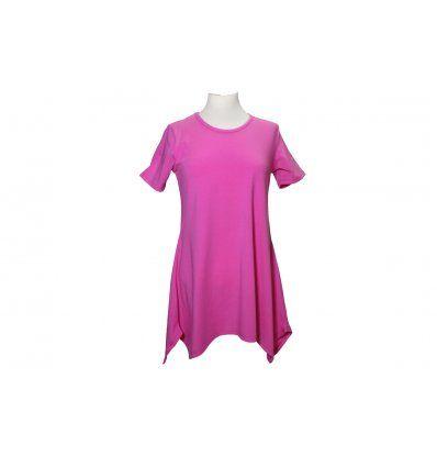 Tunika Mirjana roza kratki rukav
