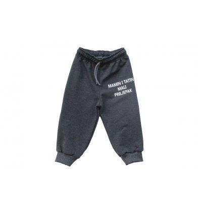 Baby hlače tamno sive melanž