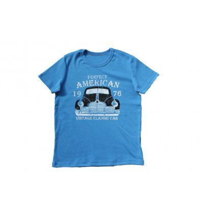 Majica svjetlo plava Vintage Car