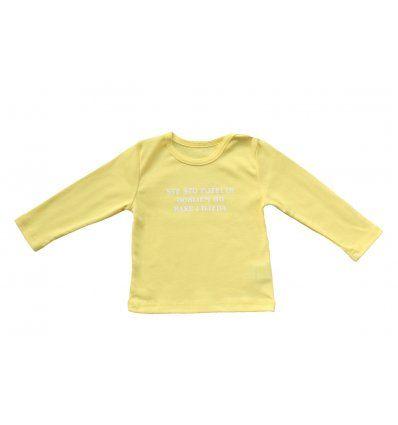 """Baby majica žuta """"Sve što poželim dobijem od bake i djeda"""""""