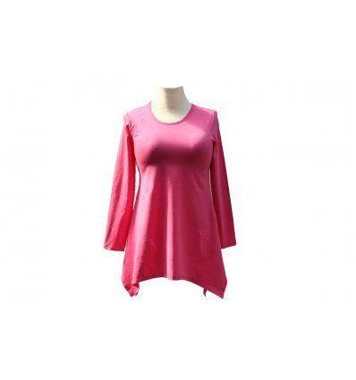Tunika Mirjana roza dugi rukav