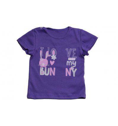 """Baby majica ljubičasta """"I love my bunny"""""""