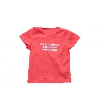 """Baby majica boje breskve """"Sve što poželim dobijem od bake i djeda"""""""