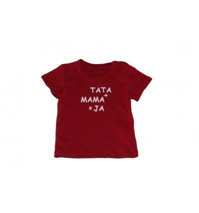 Baby majica crvena Tata plus mama