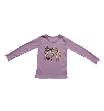 Majica uska blijedo lila Cure