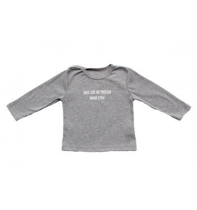 Baby majica siva melanž - Imam stav