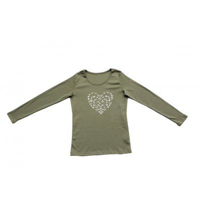 Majica uska maslinasta - Srce