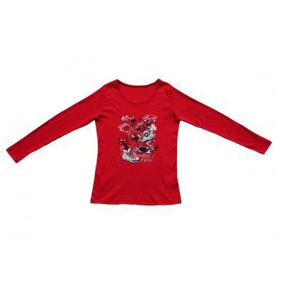 Majica uska crvena - Tenisice