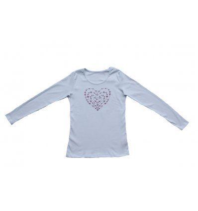 Majica uska bijela - Srce