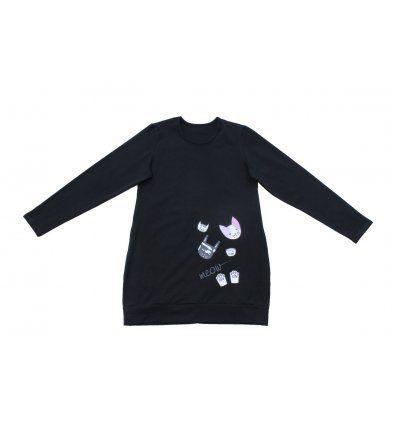 Tunika sa pasicom crna - Meow