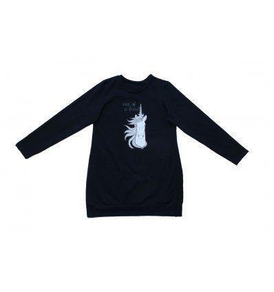 Djevojčice - Tunike - Tunika tamno plava sa pasicom - Jednorog