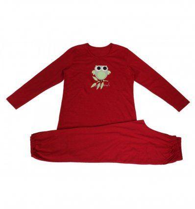 Djevojčice - Pidžame i spavaćice - Pidžama crvena - sovica