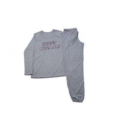 Žene - Pidžame i spavaćice - Pidžama svjetlo siva melanž - Sweet dreams