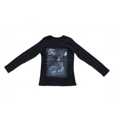 Djevojčice - Majice dugih rukava - Majica uska crna - Travel