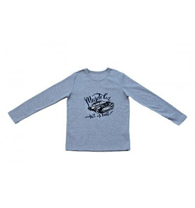Dječaci - Majice dugih rukava - Majica svjetlo siva - Muscle Car