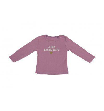 Bebe - Majice - Baby majica roza 'Ja sam bakino zlato'