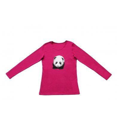 Žene - Majice dugih rukava - Majica uska fuksija - Panda