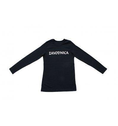 Žene - Majice dugih rukava - Majica uska tamno plava - Zavodnica