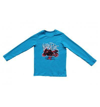 Dječaci - Majice dugih rukava - Majica svjetlo plava - Moto drive