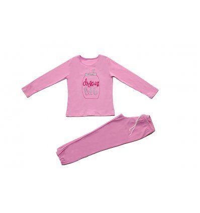 Djevojčice - Pidžame i spavaćice - Pidžama pastelno roza - Dream big