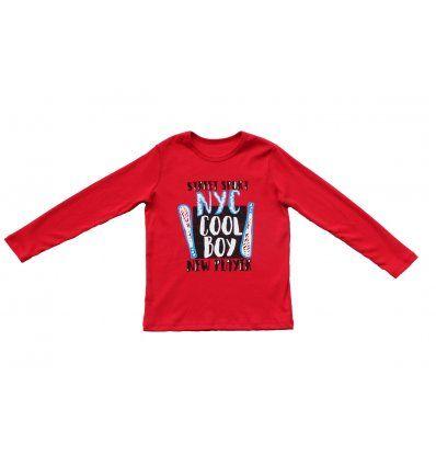 Dječaci - Majice dugi rukav - Majica crvena - Cool boy