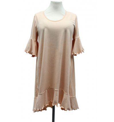 Žene - Tunike i haljine - Haljina sa volanima boje šampanjca