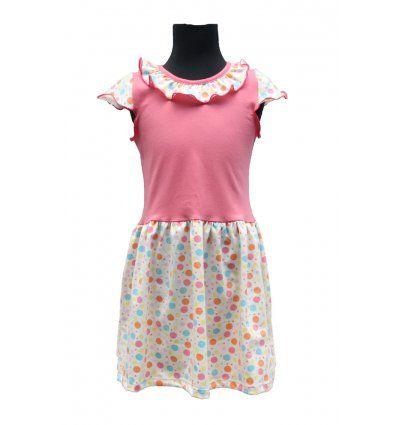 Djevojčice - Minice i haljine - Haljina sa volančićem - točkasta