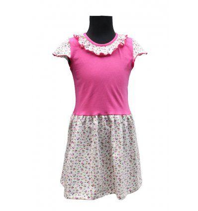 Djevojčice - Minice i haljine - Haljina sa volančićem - cvjetići