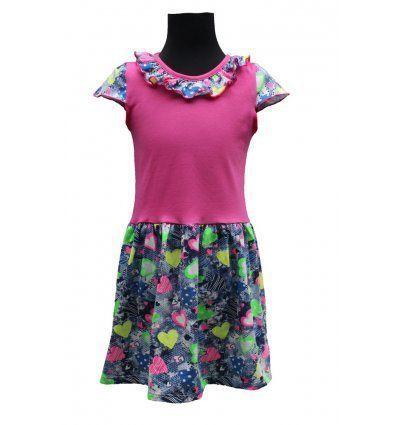 Djevojčice - Minice i haljine - Haljina sa volančićem - srčeka