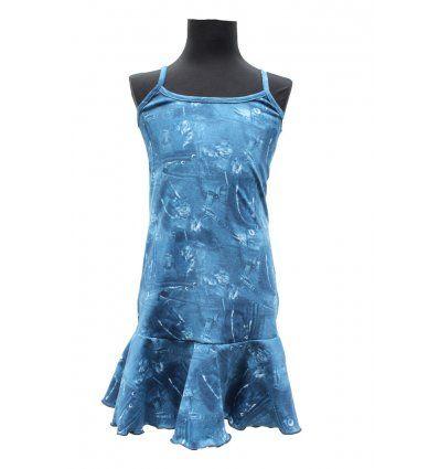 Djevojčice - Minice i haljine - Haljina sa volanom - traper uzorak