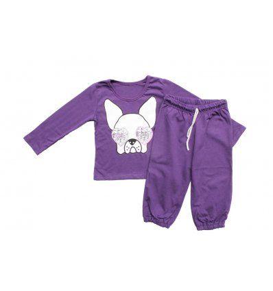Djevojčice - Pidžame i spavaćice - Pidžama lila - pas