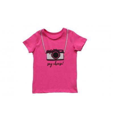 Djevojčice - Majice kratkih rukava - Majica roza - Fotić