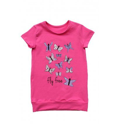 Djevojčice - Tunike - Tunika sa pasicom roza - Leptirići
