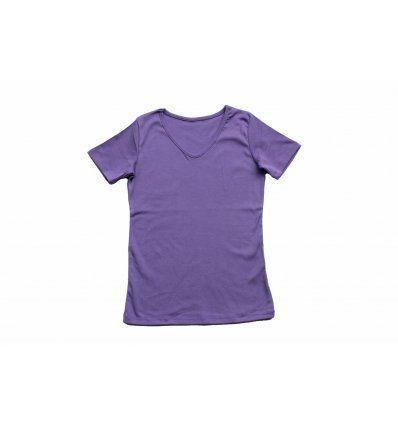 Djevojčice - Majice kratkih rukava - Majica kratkih rukava boje lavande - V izrez