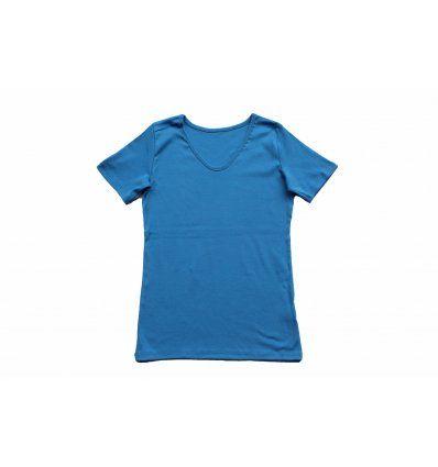 Djevojčice - Majice kratkih rukava - Majica kratkih rukava svjetlo plava - V izrez