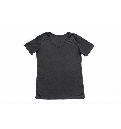 Djevojčice - Majice kratkih rukava - Majica kratkih rukava tamno siva - V izrez