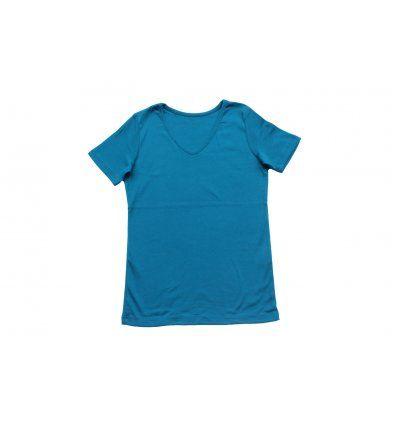 Djevojčice - Majice kratkih rukava - Majica kratkih rukava indigo plava - V izrez