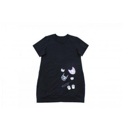 Djevojčice - Tunike - Tunika sa pasicom crna - Meow