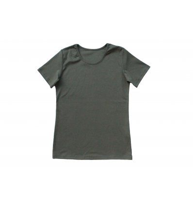 Žene - Majice kratkih rukava - Majica uska kratki rukav maslinasta