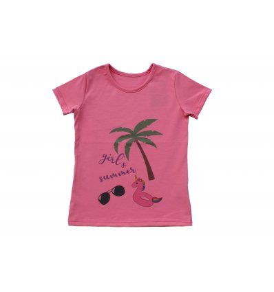 Djevojčice - Majice kratkih rukava - Majica boje marelice - kratkih rukava - Girl's summer