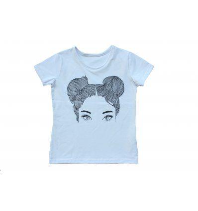 Djevojčice - Majice kratkih rukava - Majica bijela - kratkih rukava - Cura s kečkama