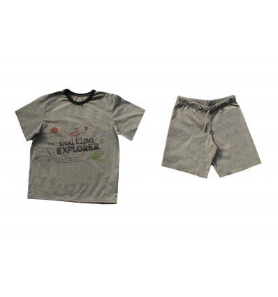 Dječaci - Pidžame - Pidžama tamno siva kratka - Bedtime Explorer