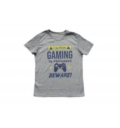 Dječaci - Majice kratkih rukava - Majica svjetlo siva - kratkih rukava - Gaming