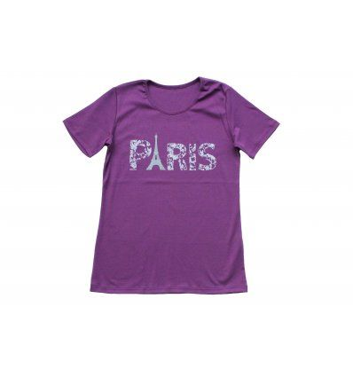 Žene - Majice kratkih rukava - Majica ljubičasta - Paris
